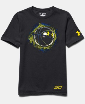 Boys' UA SC30 Fireball Hoops T-Shirt