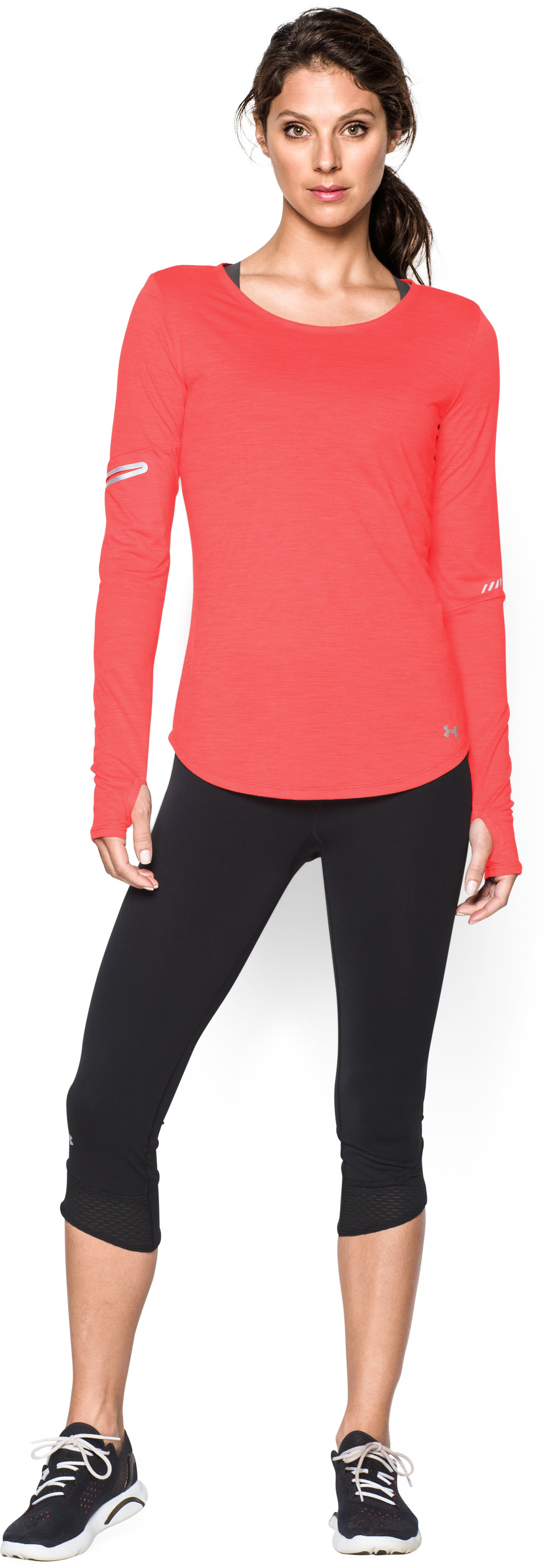 Women's UA Charged Wool Long Sleeve, Coho, Front