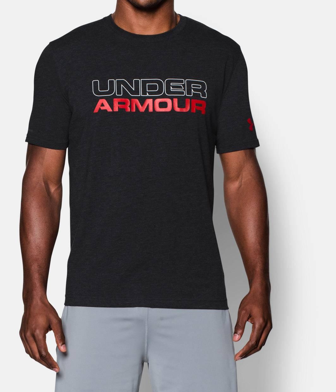 Men s ua wordmark t shirt under armour us for Under armour t shirts