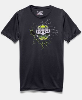 Boys' UA Soccer Chrome Ball T-Shirt