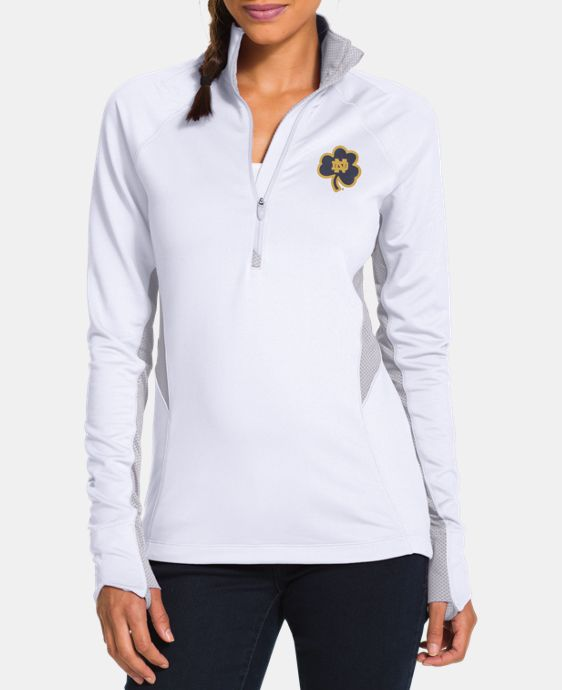 Women's Notre Dame UA Tech™ Clover 1/2 Zip LIMITED TIME: FREE U.S. SHIPPING 1 Color $48.99