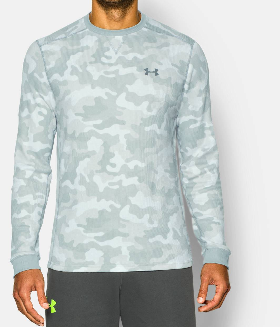 Men S Ua Amplify Camo Thermal Crew Under Armour Us