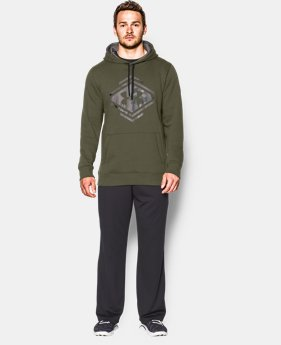 Men's UA Rival Fleece Graphic Hoodie  1 Color $44.99