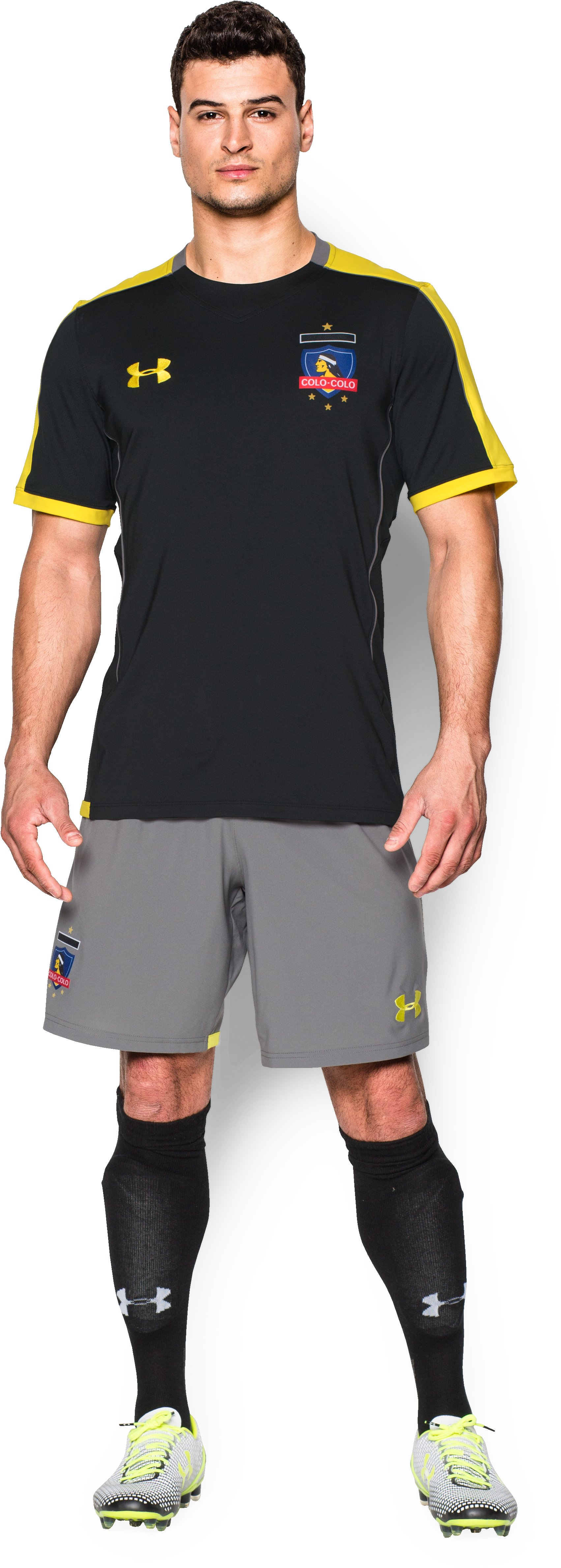 Men's Colo-Colo Short Sleeve Training Shirt, Black , Front