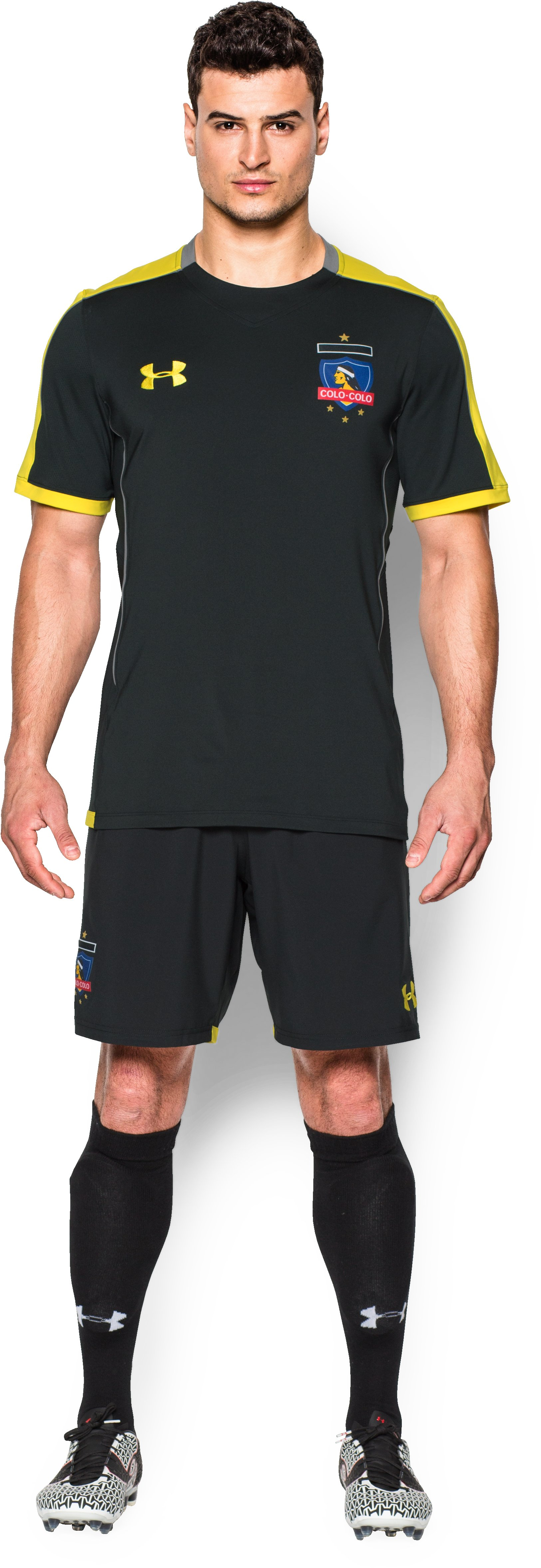 Men's Colo-Colo Training Shorts, Black , Front