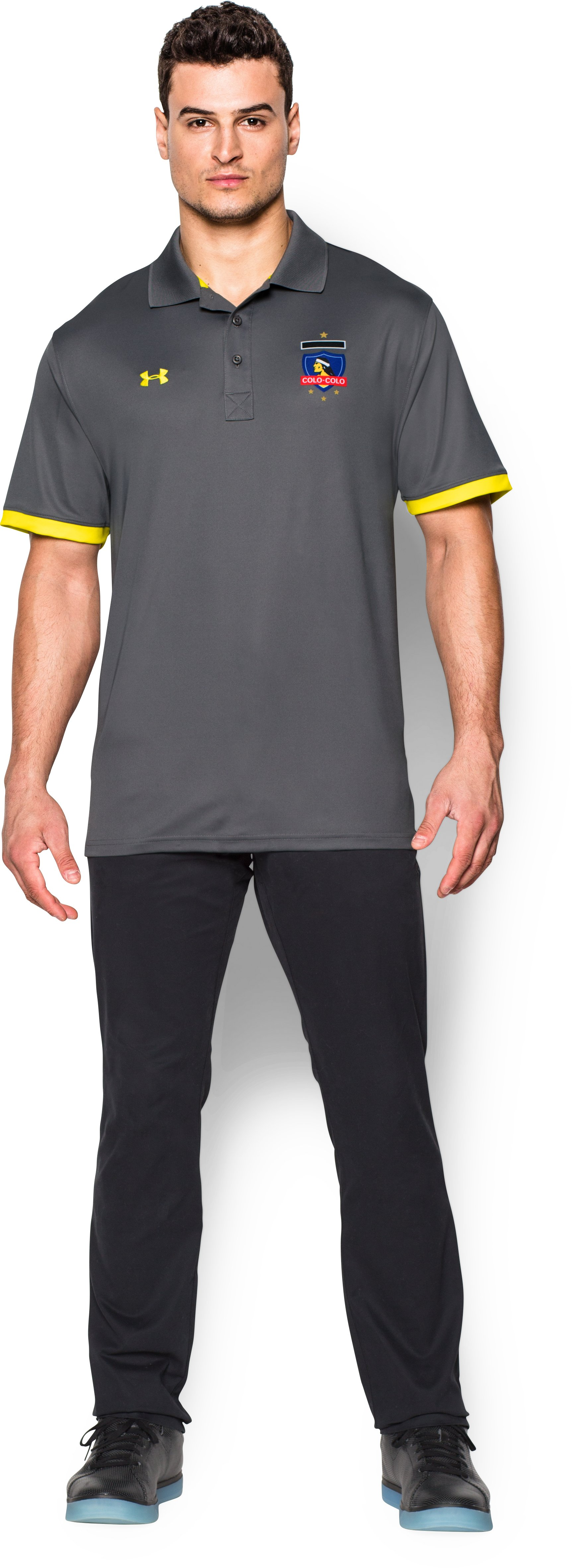 Men's Colo-Colo Polo, Graphite, zoomed image