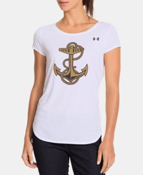 "Women's Naval Academy ""Summer Whites"" UA Charged Cotton® T-Shirt LIMITED TIME: FREE U.S. SHIPPING 1 Color $22.99"