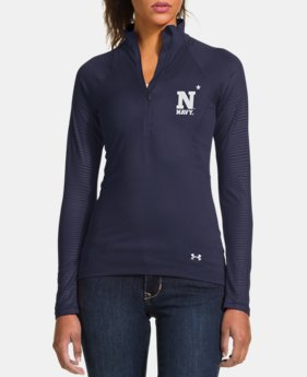 "Women's Naval Academy ""Summer Whites"" UA Tech™ 1/2 Zip LIMITED TIME: FREE U.S. SHIPPING 1 Color $37.99"