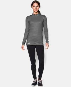 New to Outlet Women's UA ColdGear® Printed Mock  1 Color $24.74 to $32.99