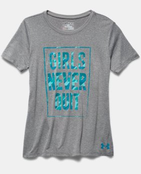 Girls' UA Never Quit T-Shirt