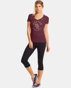 Women's Under Armour® Legacy Boston Charged Cotton Tri-Blend V-Neck