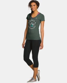 Women's Under Armour® Legacy Loyola Charged Cotton Tri-Blend V-Neck