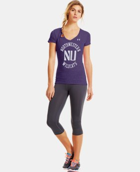 Women's Under Armour® Legacy Northwestern Charged Cotton Tri-Blend V-Neck