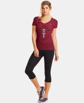 Women's Under Armour® Legacy Temple Charged Cotton Tri-Blend V-Neck