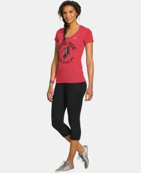 Women's Under Armour® Legacy Texas Tech Charged Cotton Tri-Blend V-Neck
