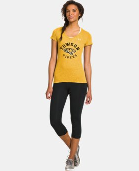 Women's Under Armour® Legacy Towson Charged Cotton Tri-Blend V-Neck