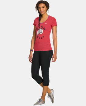 Women's Under Armour® Legacy Utah Charged Cotton Tri-Blend V-Neck