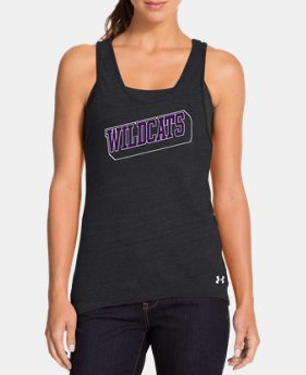 Women's Under Armour® Legacy Northwestern Charged Cotton Tri-Blend Tank