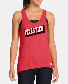 Women's Under Armour® Legacy Texas Tech Charged Cotton Tri-Blend Tank