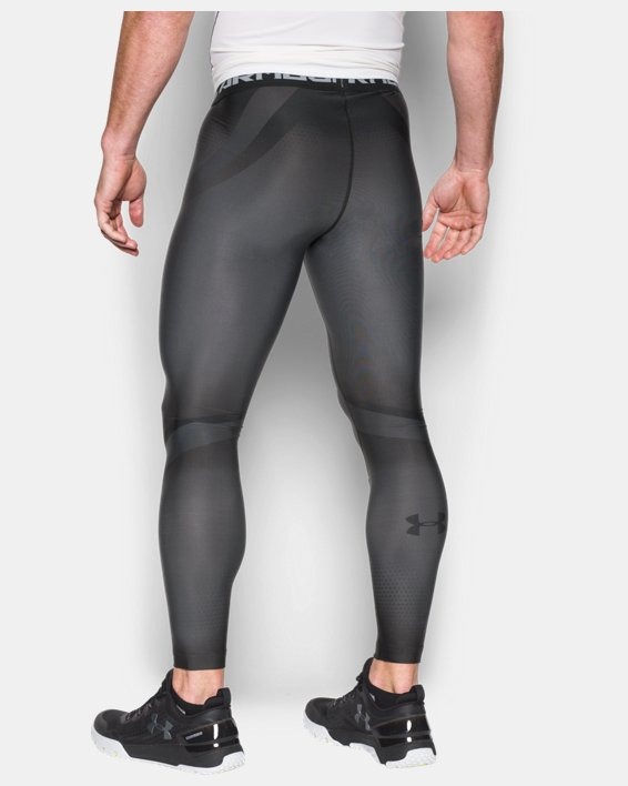 Men's UA Charged Compression Leggings, Gray, pdpMainDesktop image number 1