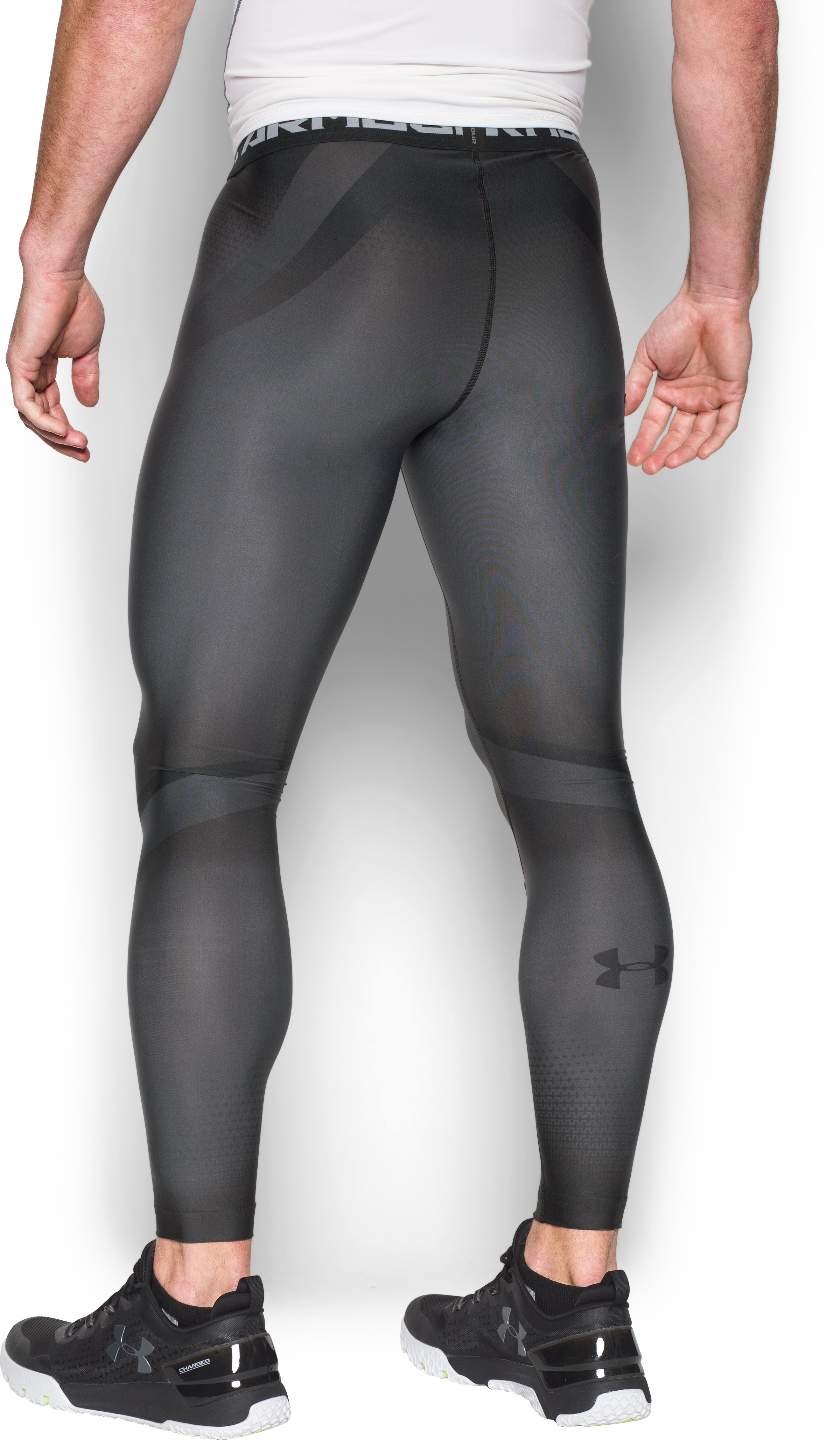Men's UA Charged Compression Leggings, Graphite