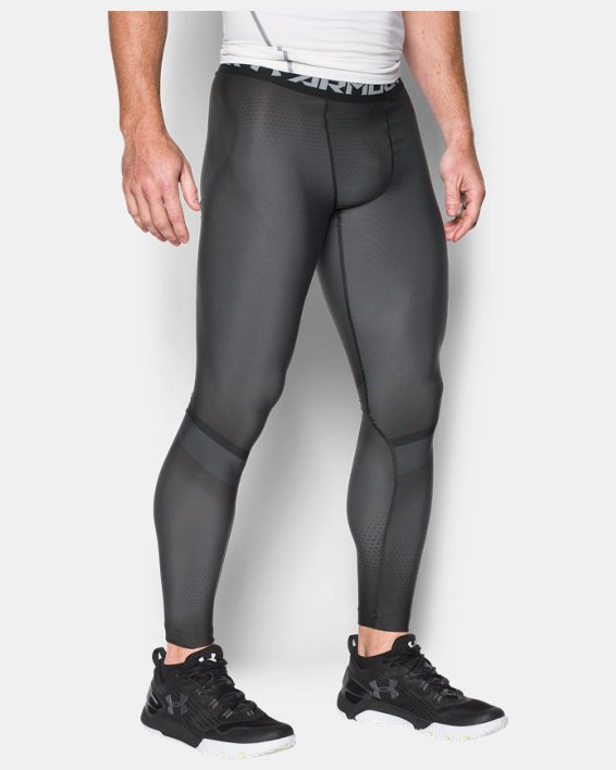 Men's UA Charged Compression Leggings, Gray, pdpMainDesktop image number 0