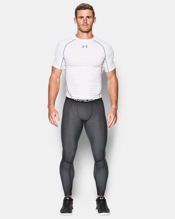 Men's UA Charged Compression Leggings, Gray, pdpMainDesktop image number 2