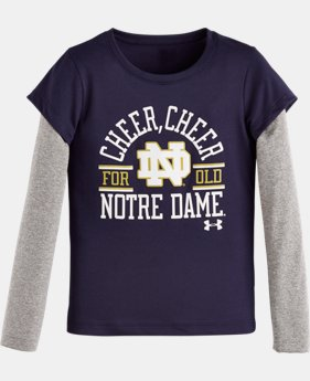Girls' Infant UA Cheer Cheer Notre Dame Long Sleeve