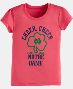 Girls' Toddler UA Cheer Cheer Notre Dame Short Sleeve