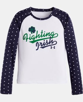Girls' Toddler UA Fighting Irish Notre Dame Raglan