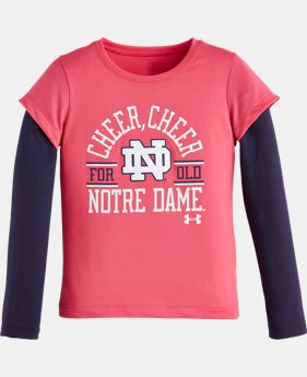 Girls' Pre-School UA Cheer Cheer Notre Dame Long Sleeve