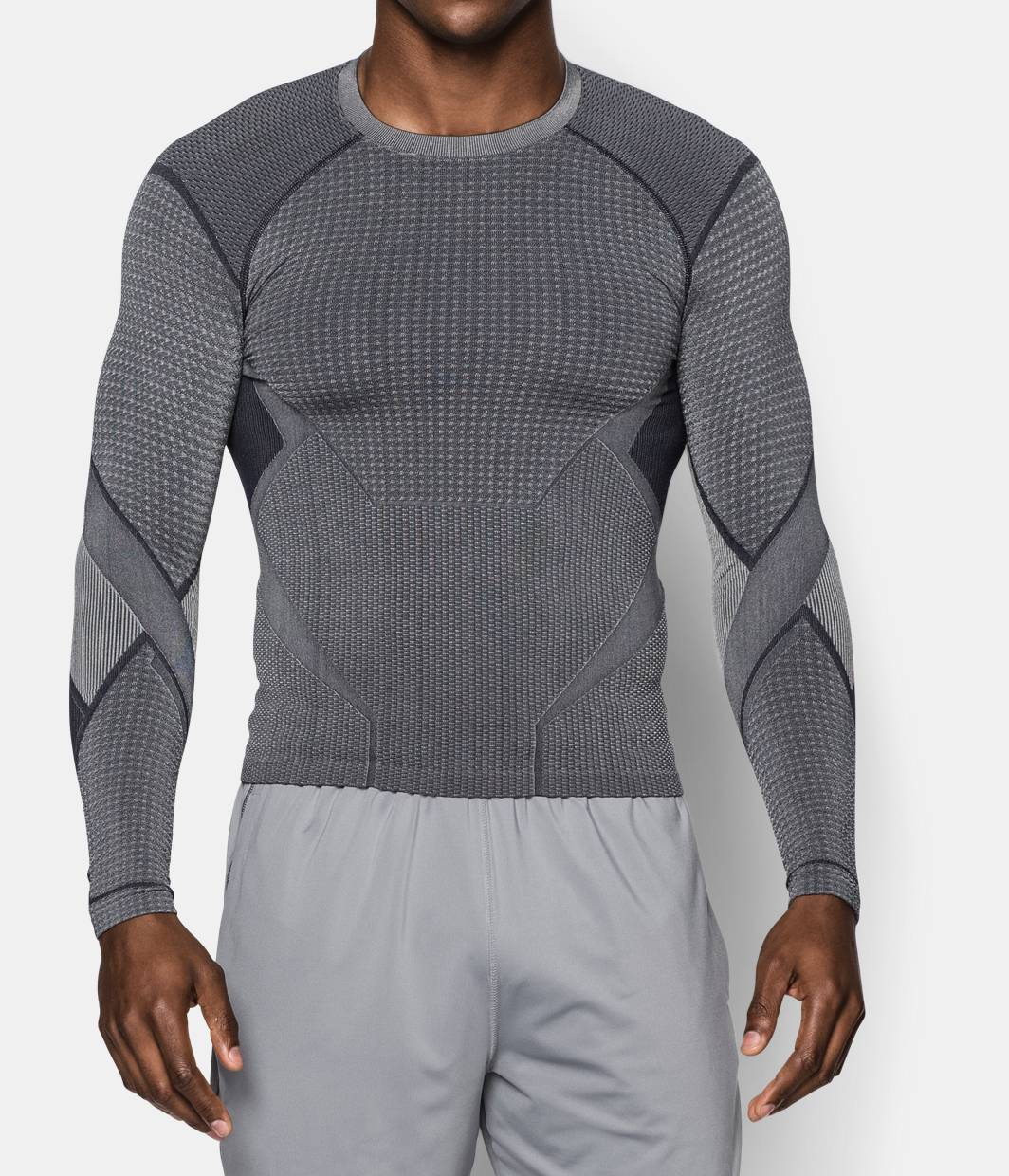 men s quicksilver seamless long sleeve compression shirt