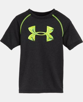 Boys' Toddler UA Glossy Big Logo Raglan T-Shirt