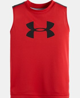 Boys' Pre-School Big Logo Wavy Camo Tank