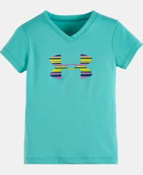 Girls' Pre-School UA Blurred Big Logo Short Sleeve