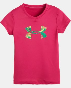 Girls' Pre-School UA Jungle Big Logo T-Shirt