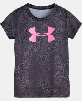 Girls' Infant UA Snake Skin Shimmer Big Logo Short Sleeve