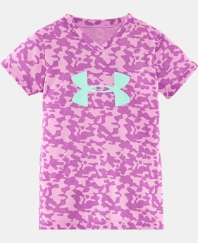Girls' Pre-School UA Hydro Big Logo T-Shirt LIMITED TIME: FREE SHIPPING 1 Color $19.99