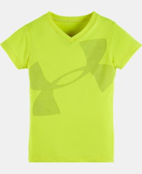 Girls' Pre-School UA Cropped Glitter Logo Top