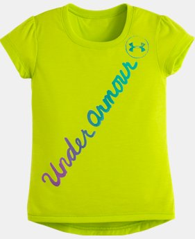 Girls' Pre-School UA Script Hi Lo Short Sleeve