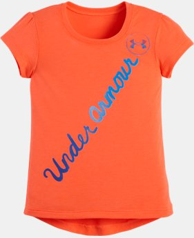 Girls' Toddler UA Script Hi Lo Short Sleeve