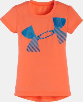 Girls' Toddler UA Tie Dye Hi Lo Logo Short Sleeve