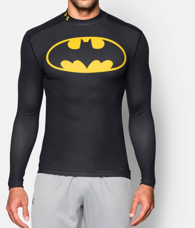 Men s under armour alter ego batman coldgear compression for Under armour lifting shirts