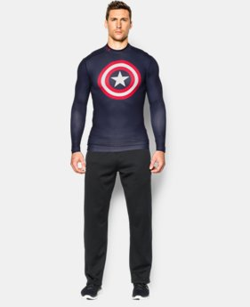 Men's Under Armour® Alter Ego Captain America ColdGear® Compression Mock