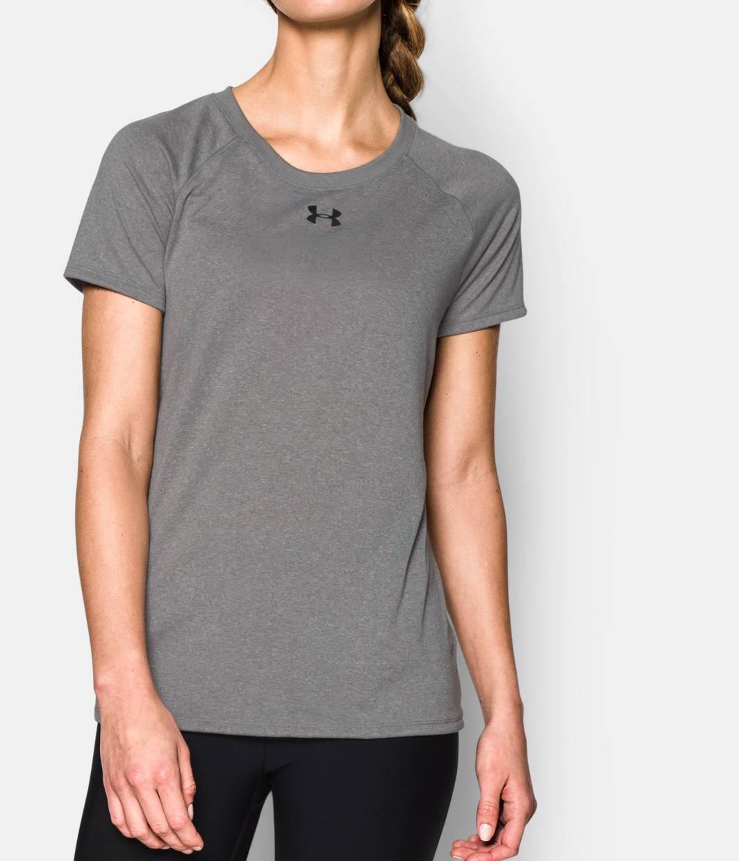 Women s ua locker t shirt under armour us for Gray under armour shirt