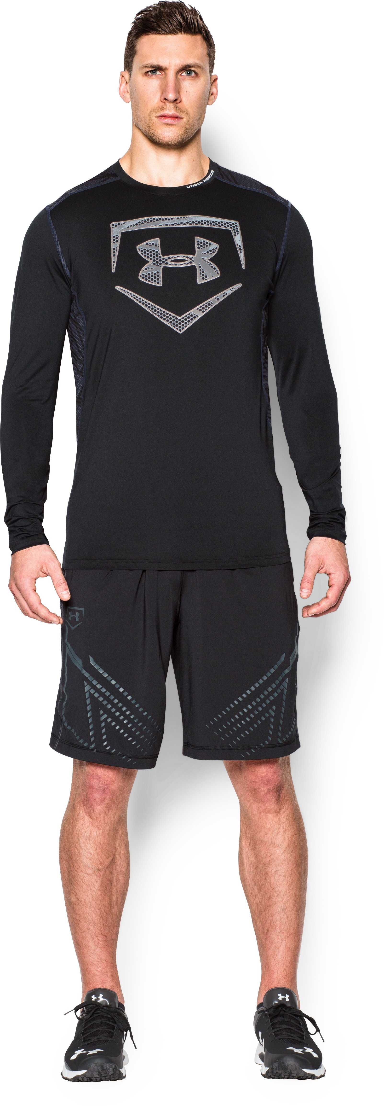 Men's UA Raid Baseball Long Sleeve Shirt, Black