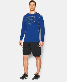 New Arrival Men's UA Raid Baseball Long Sleeve Shirt  1 Color $44.99