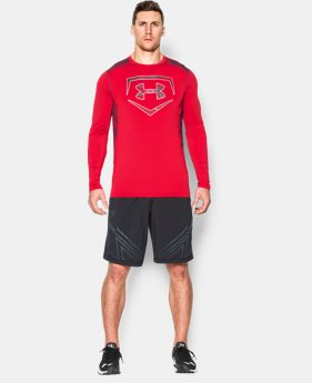 New Arrival Men's UA Raid Baseball Long Sleeve Shirt LIMITED TIME: FREE SHIPPING 1 Color $44.99