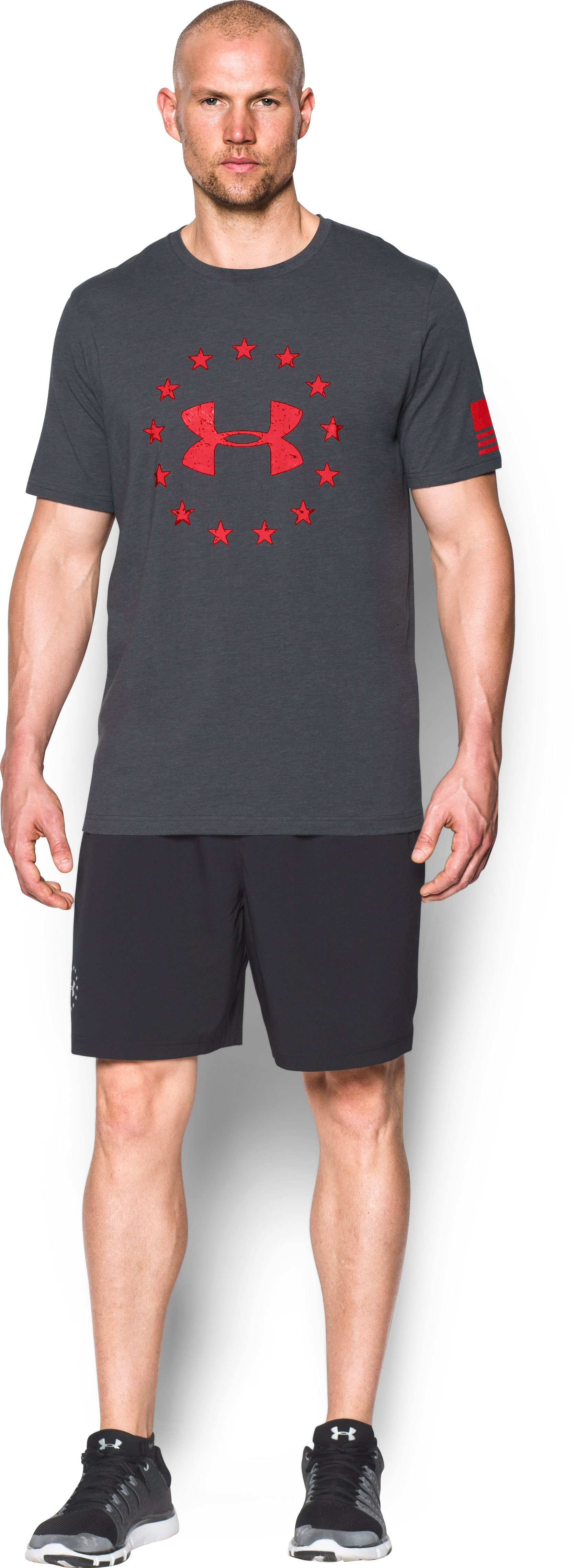 Men's UA Freedom T-Shirt, Carbon Heather, zoomed image