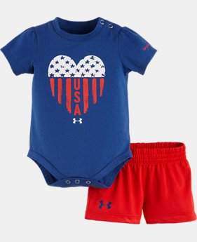 Girls' Newborn UA USA Set